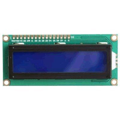 LCD Module 1 x2 Lines with Blue back-light