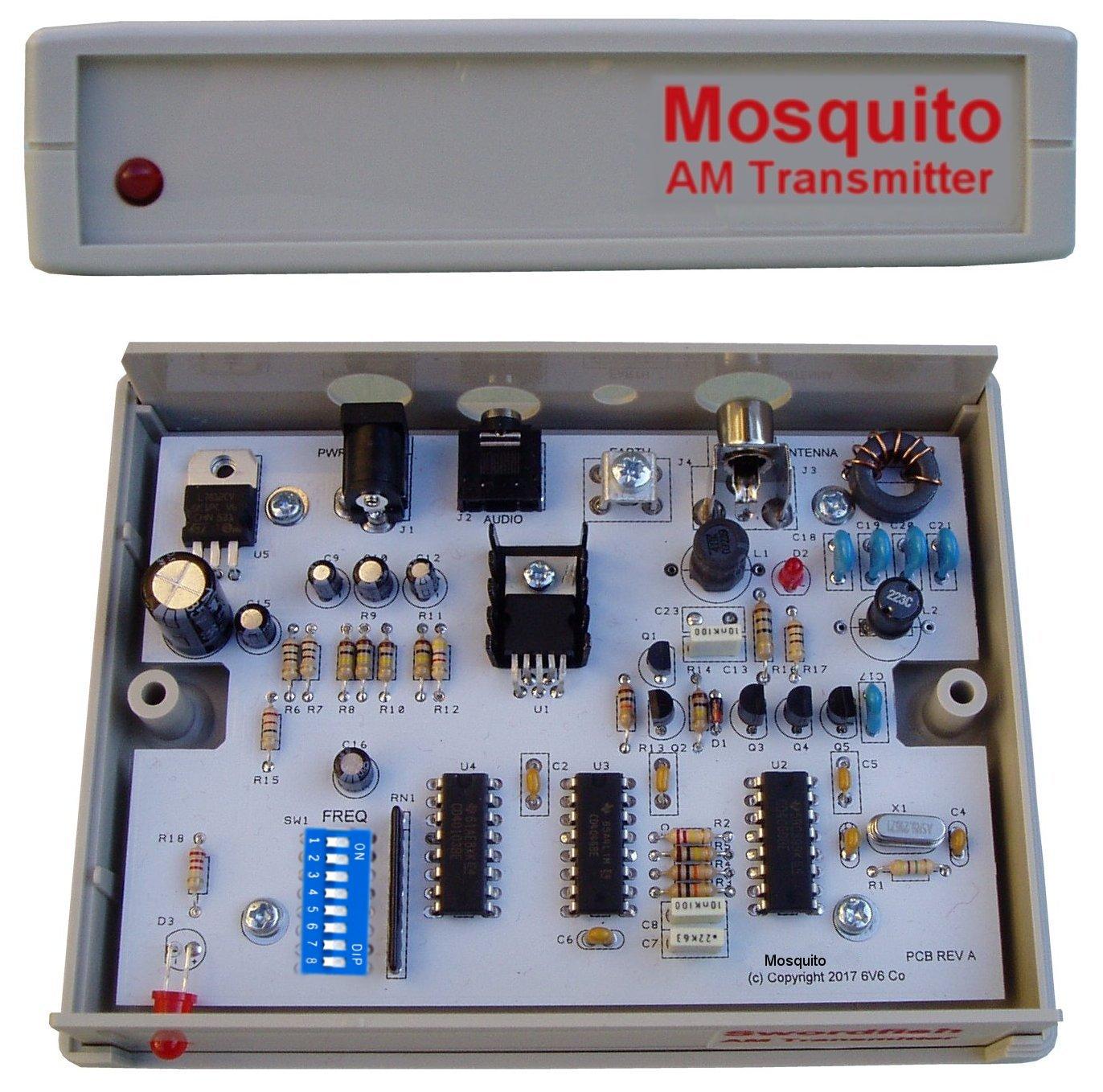 Mosquito 1 Watt Am Medium Wave Transmitter 6v6 Electronics Company Circuit Diagram Click To Enlarge